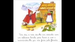 História do Capuchinho Vermelho com símbolos ARASAAC