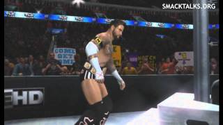 WWE SVR 2011 CM Punk CAW With Updated Theme & Video (Cult Of Personality)