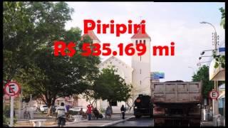Cidades mais ricas do Piaui