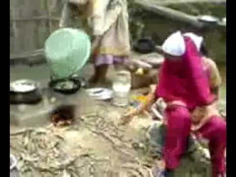 Nahida cooking in Nobo Gram Noakhali