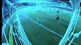 Gol Diego Tardelli, São Paulo 1 x 2 Atlético - Copa Libertadores 02/05/2013