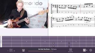 Bass-Tutorial: Act Like You Know - Fat Larry Band