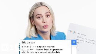 Brie Larson Answers the Web's Most Searched Questions | WIRED