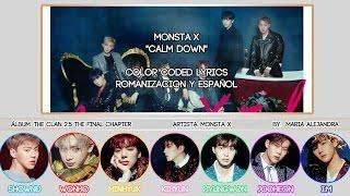 "MONSTA X (몬스타엑스) ""Calm Down"" [COLOR CODED] [ROM|SUBESPAÑOL LYRICS]"