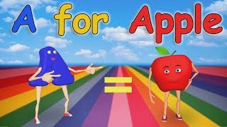 A for Apple Nursery Rhymes | Alphabet Song | ABC Song for Children width=