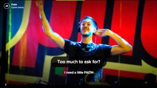 Calvin Harris New songf  Faith Lyrics-Letra
