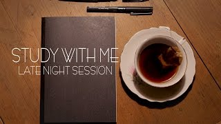 Late Night Study Session | Study with me | StudyGal