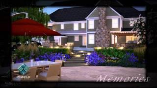 3D Render Landscape Pool Patio