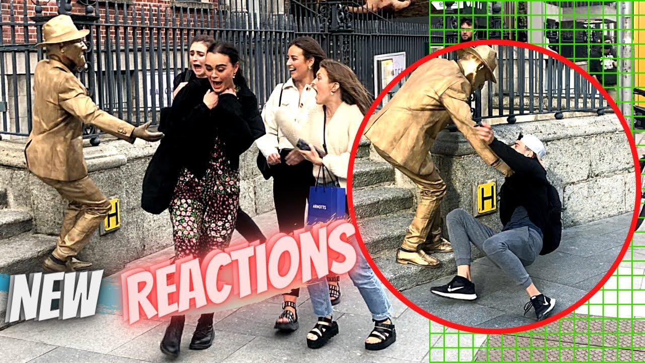 New Golden Statue Prank & Reaction with Nickxar in Dublin, Ireland