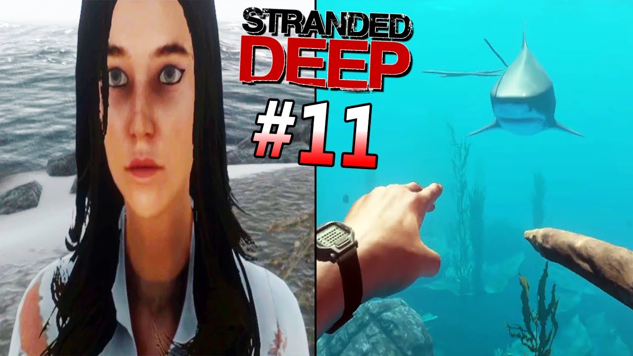 NightShadowXO - Sharks Keep Coming For Us.. | Getting Ready For A Long Ride - Stranded Deep Co-op Part 11