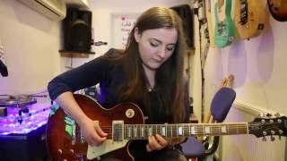 Game of Thrones, Skyrim, POTC Metal Mashup Cover By Bethany On Guitar