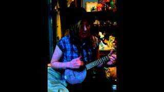 Blue umbrella John prine cover banjo ukulele