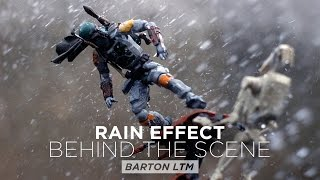 star wars action figures behind the scene toyphotography on rain effect
