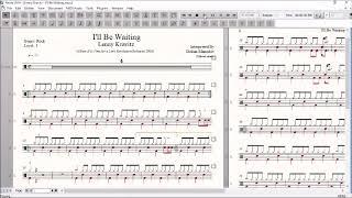 Drum Score World (Sample) - Lenny Kravitz - I'll Be Waiting