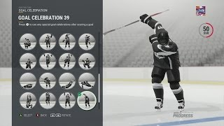 FIRST LOOK AT ALL NHL 17 NEW CELEBRATIONS!