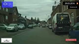 Driving through Plombières (Belgium) from Gemmenich to Moresnet-Chapelle 20.03.2016 Timelapse x4