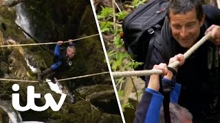 Bear's Mission with Warwick Davis | Warwick Loses Control Crossing a Gorge! | ITV