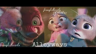 Alleyways - Nick and Judy ♧Zootopia♧