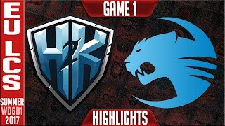 H2K vs Roccat Highlights Game 1 - EU LCS Week 6 Summer 2017 - H2K vs ROC G1
