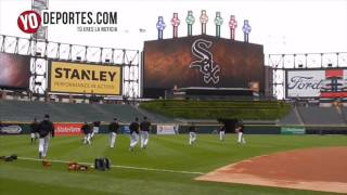 Chicago White Sox team playing soccer