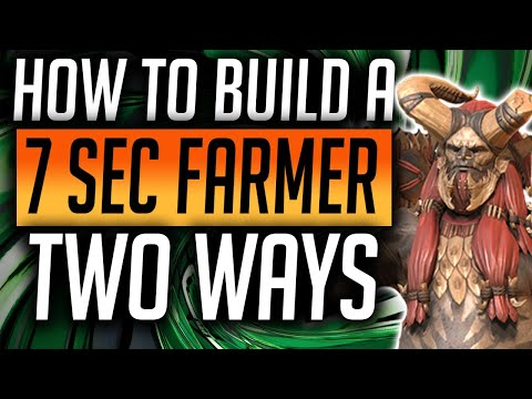 RAID: Shadow Legends   2 Ways to build a sub 10 second Campaign farmer! Early and End games builds!