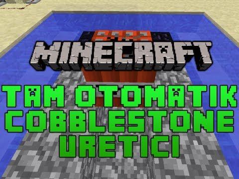 Minecraft Tam Otomatik Cobblestone Üreticisi