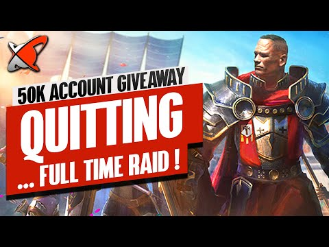 REASONS WHY I'M QUITTING THESE... | 50,000$ Account Giveaway & Channel Update | RAID: Shadow Legends