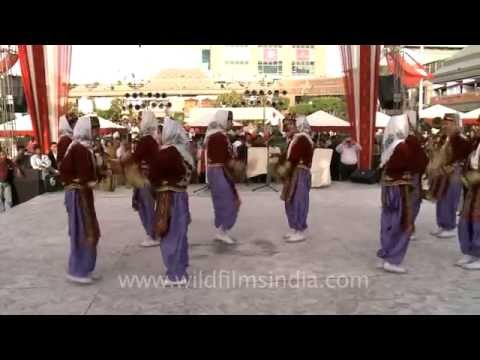 Indian students perform Turkish Folk Dance