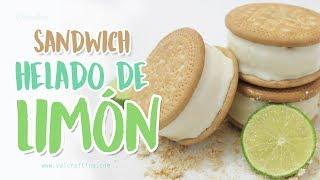 Sandwich helado de limón - Postre fácil / Valcrafting