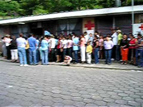 Avalancha de pacientes en Boaco, Nicaragua, 7-15/8/08