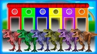 Cores do dinossauro |   Dinossauros cores para as crianças a aprender |   As crianças aprendem cores
