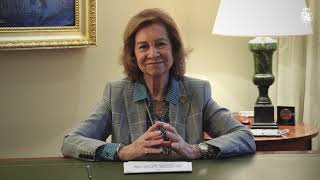 """Su Majestad la Reina Doña Sofía, miembro del Comité de premios de AGFUND, ha intervenido en el acto virtual de entrega de los premios """"Príncipe Tal..."""