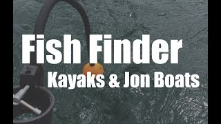 Portable Fish Finder For Kayaks and Jon Boats (Deeper Flexible Arm Mount)