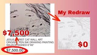 $7,500 Artwork For FREE | Recreating Art