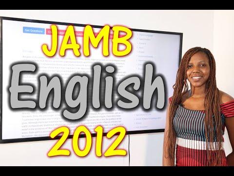 JAMB CBT English 2012 Past Questions 1 - 20