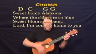Sweet Home Alabama - Baritone Ukulele Cover Lesson with Chords, Lyrics