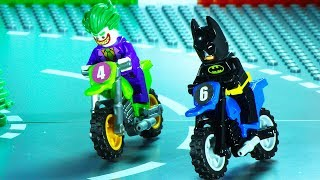 Lego Motorcycle Races - Batman vs Joker