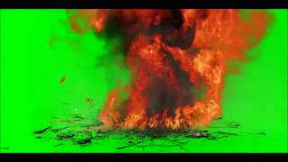Green Screen Car Explosion debris, cracks, dust, smoke, fire, sound effects and explosion HD   Tune
