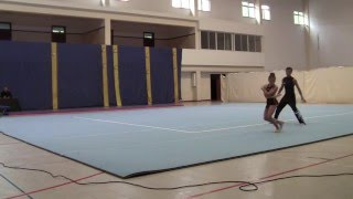 Luana /João (Calheta) - Par Misto N3 - Camp. Regional. Acrobática - Desporto Escolar