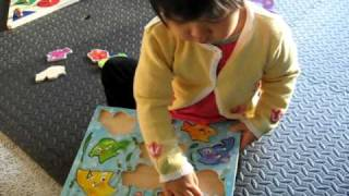 Baby Solves Fish Puzzle