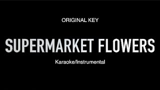 Supermarket Flowers - Ed Sheeran - ORIGINAL KEY (Instrumental/Sing Along)