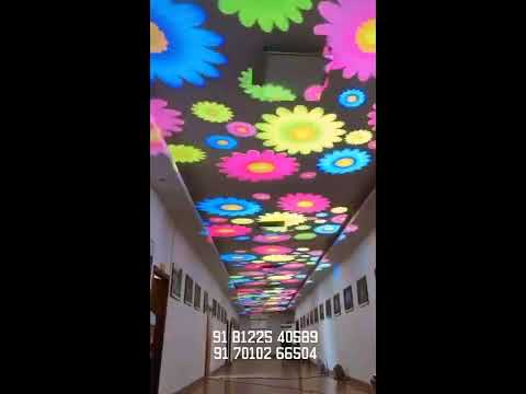 Flower Ceiling Design light Decoration India +91 81225 40589