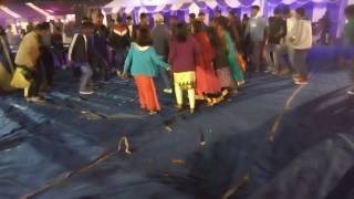 Chain dance weeding party at namkum amit with puja