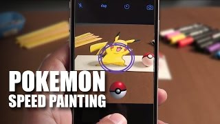 Pokemon Speed Painting | Pikachu | Pokemon Go | Mad Stuff With Rob