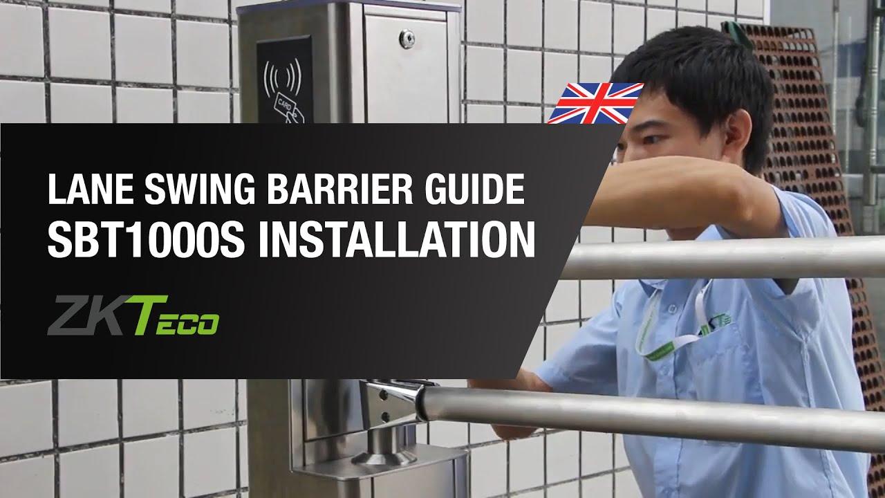 SBT1000S Lane Swing Barrier Installation Guide - ZKTeco