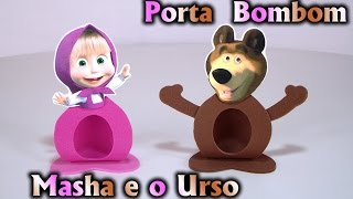 Lembrancinha Porta Bombom Tema Masha e o Urso - Pra Festa / Aniversário / Fiesta / Party Kids