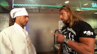 Triple H finds Shawn Michaels working in a cafeteria: Raw, Aug. 10, 2009 width=