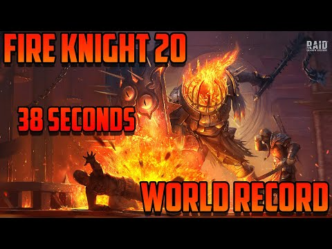 Fire Knight Stage 20 World Record I Raid Shadow Legends