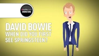 David Bowie Recalls First Time Seeing Bruce Springsteen Perform (Radio.com Minimation)