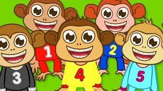 Beş Küçük Maymun | Sevimli Dostlar | Adisebaba TV Çizgi Film Çocuk Şarkıları 2016